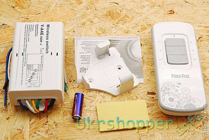 DealExtreme: Дистанционный пульт для люстры на 4 канала с управлением по радио.