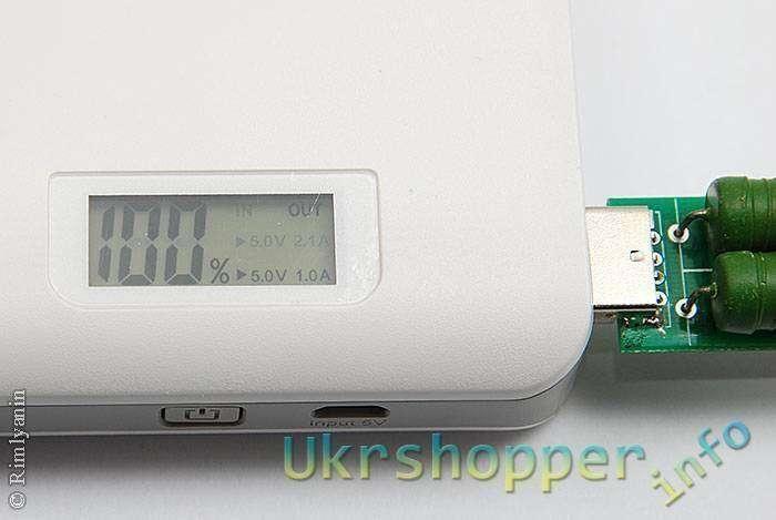 GearBest: Повербанк ARUN Y615 10000mAh с LCD экраном, отображающий в %% текущий уровень заряда