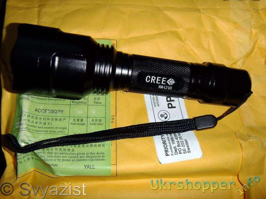Tmart: Cветодиодный фонарь TangsFire C8 на новом светодиоде CREE XM