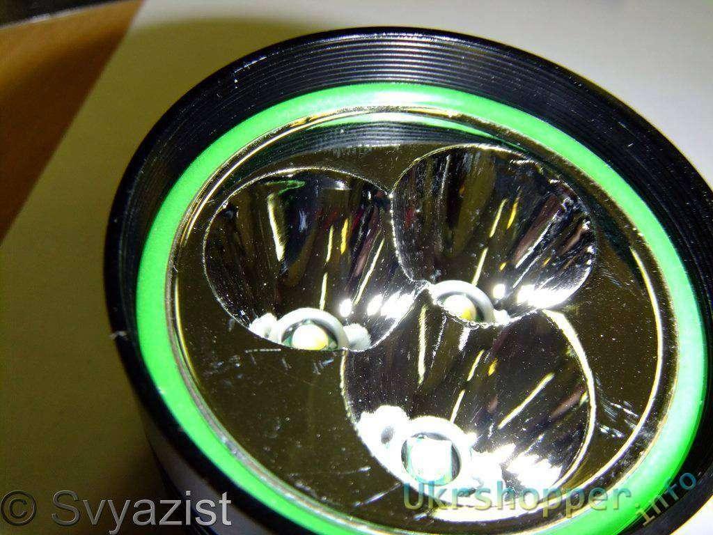 Tmart: Flashlight SKY-RAY KING 3XT6. Фонарик с 3 светодиодами XML-T6 на 4 аккумуляторах 18650.