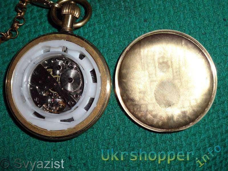 Aliexpress: Винтажные механические карманные часы с тремя циферблатами и цепочкой.