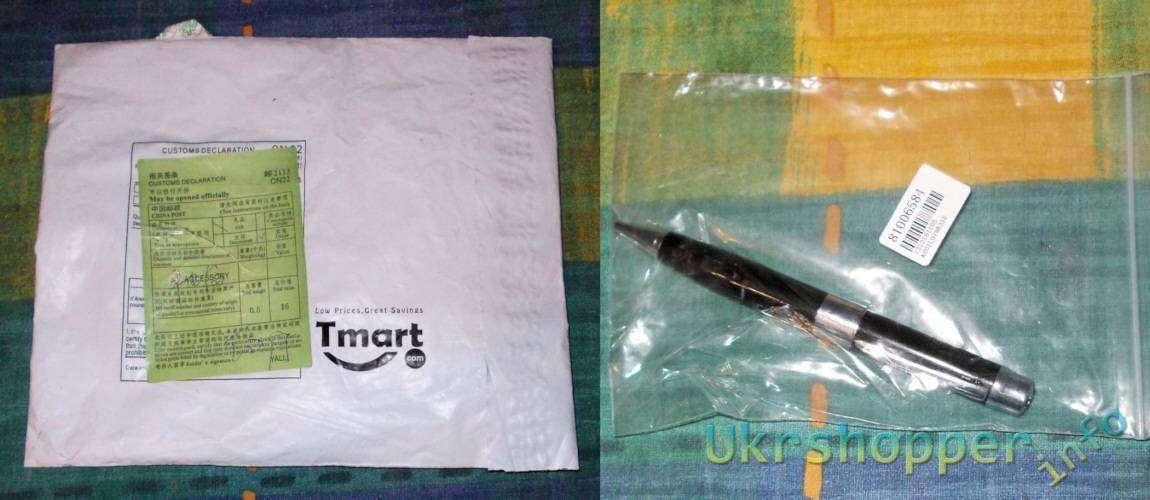 Tmart: Ручка-флешка на 32 Гб с фонариком, лазерной указкой и детектором валют