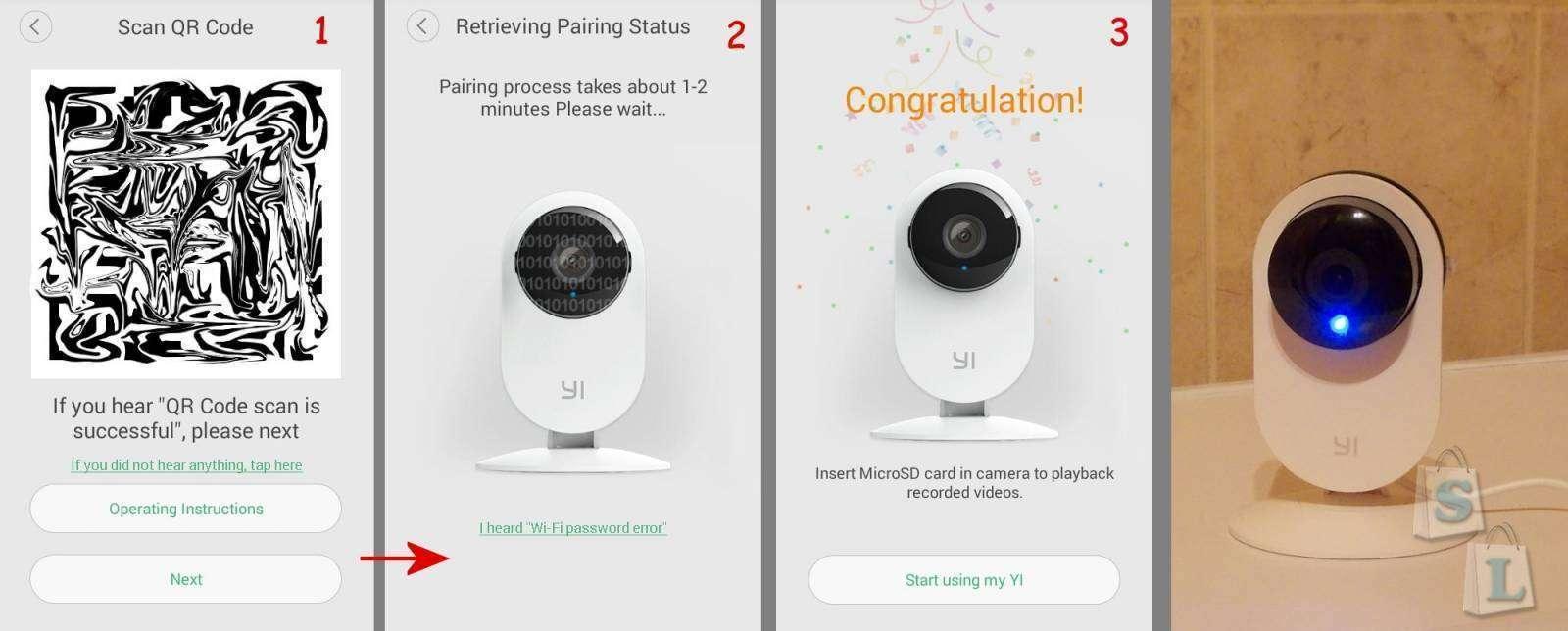 Aliexpress: Дом всегда онлайн. IP Камера Xiaomi YI YHS-113-IR (международная версия)