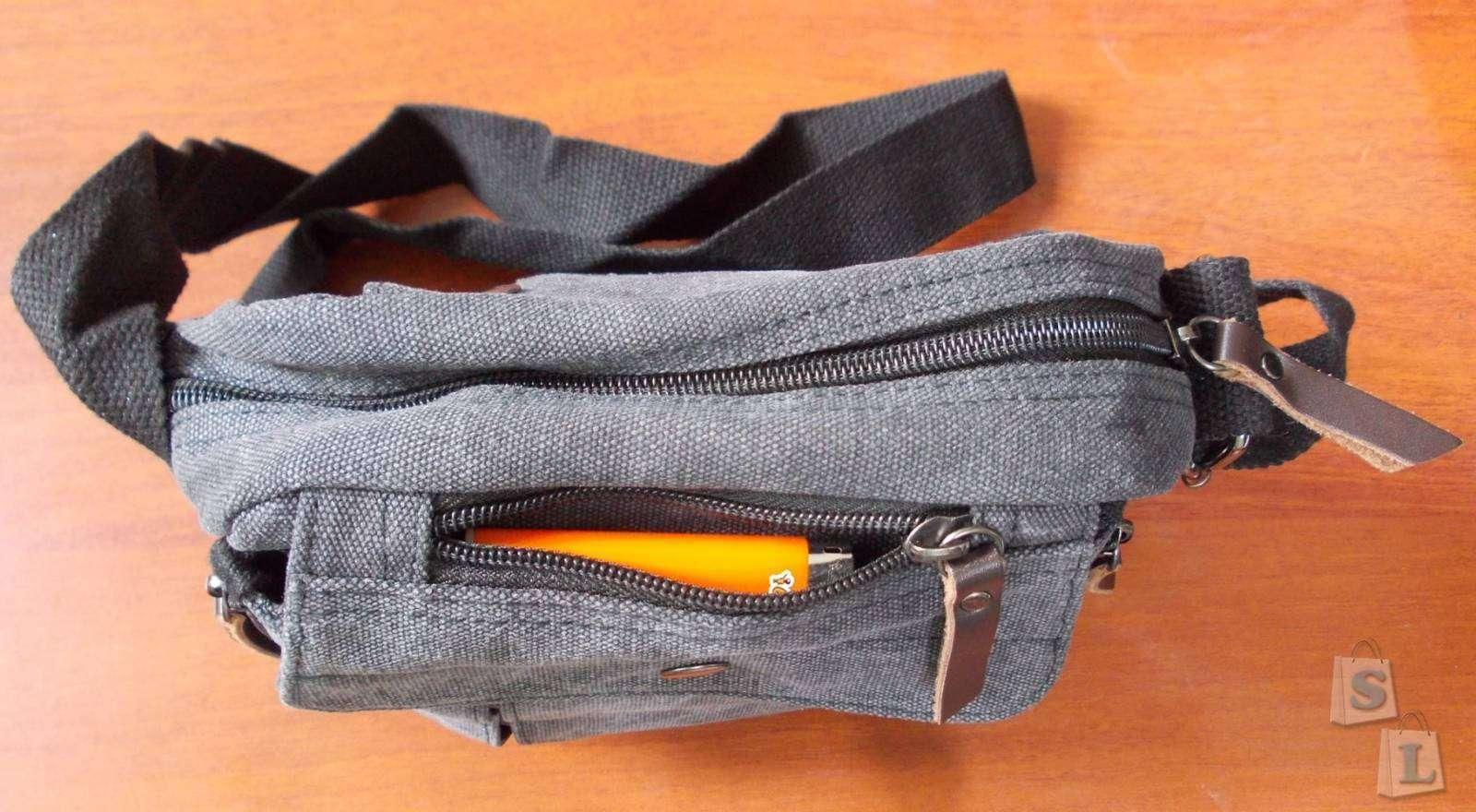 Tmart: Мужская наплечная сумка из канваса