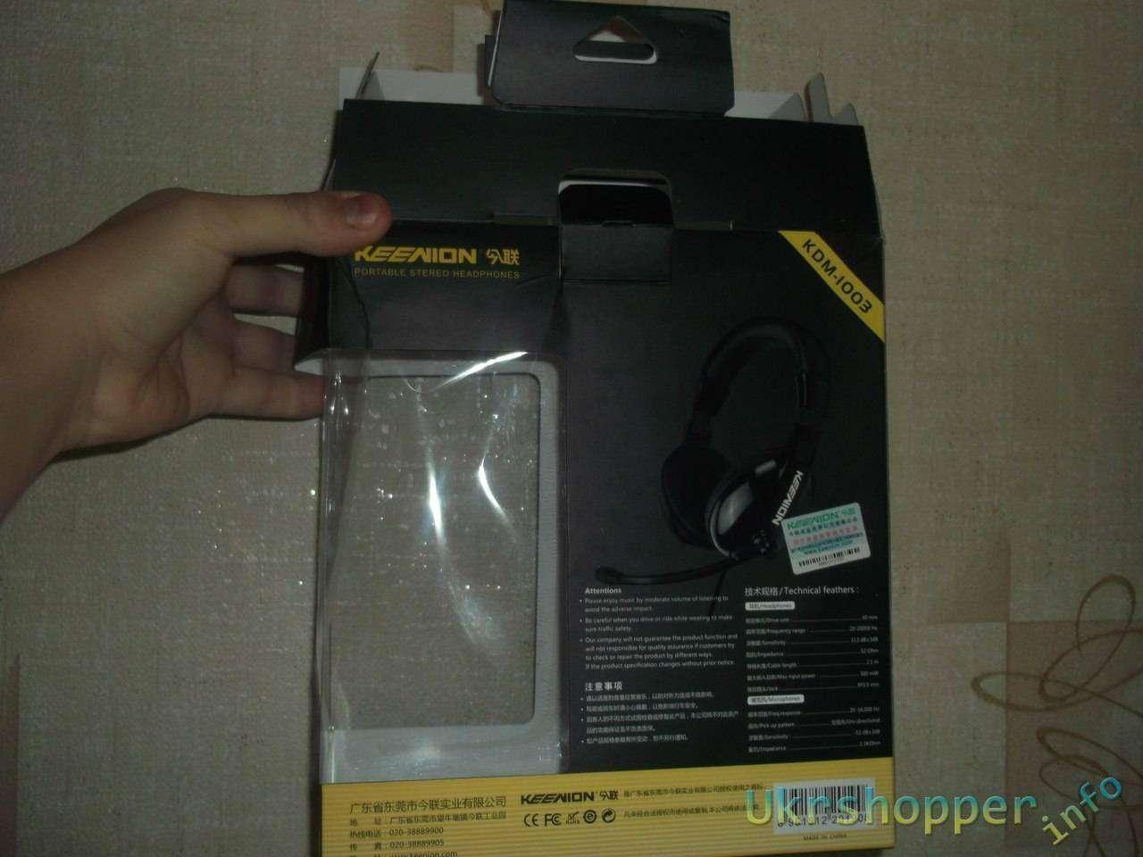 TinyDeal: Наушники с микрофоном KEENION KDM-1003.