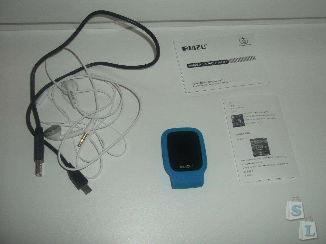 GearBest: Спортивный MP3 плеер Ruizu X09.
