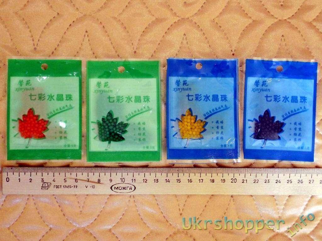 TinyDeal: Шарики из гидрогеля – декоративный наполнитель для цветов или твердая вода, водка и другие спиртные напитки