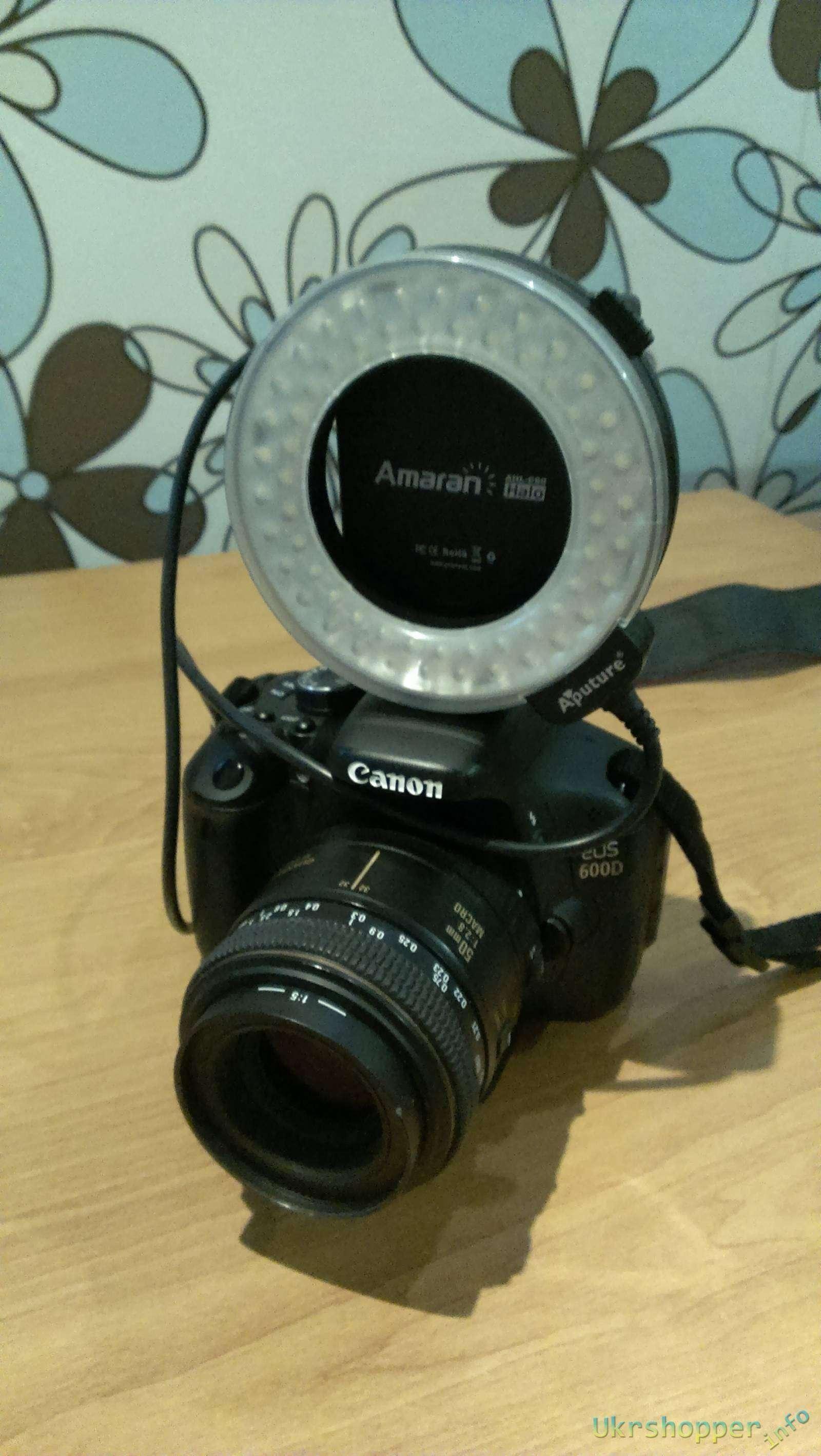Aliexpress: Кольцевая вспышка для макросъемки Aputure Amaran Halo LED AHL-C60