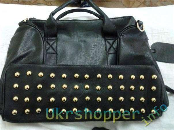 TinyDeal: Моднявая черная сумка. Korean Style Studs Bottom PU Leather Shoulder Bag NBG-51287