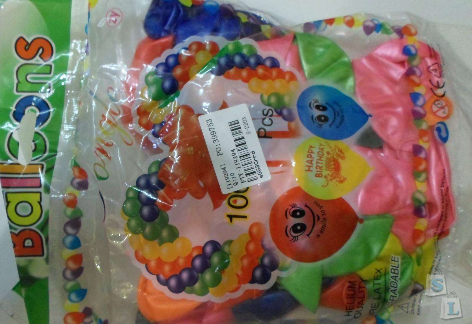 TinyDeal: Надувные шарики
