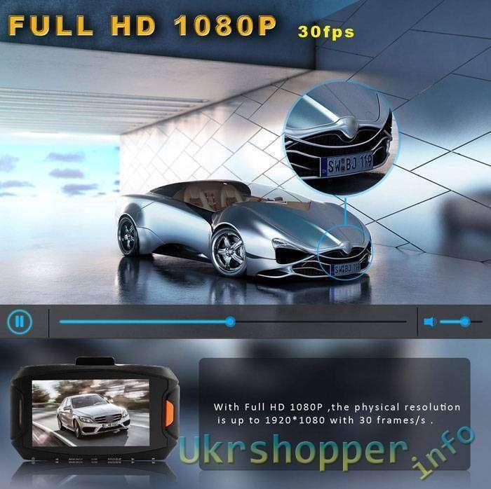 GearBest: Скидка на автомобильный видеорегистратор Full HD(1080P)-Dome G90 до .99