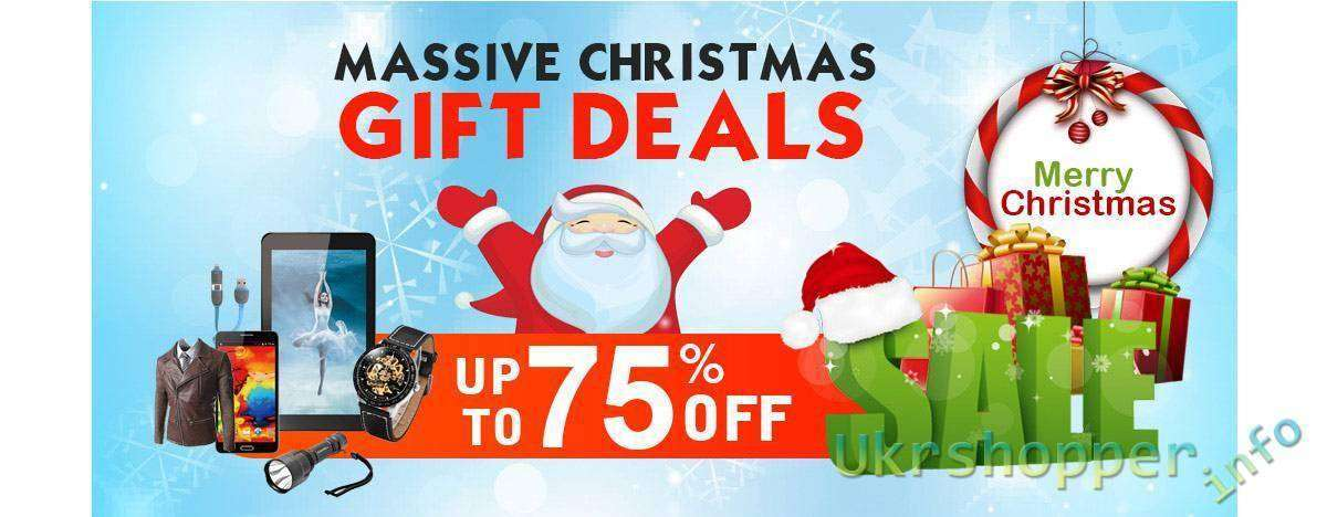 GearBest: Супер-скидка до 75% ко Дню Рождество от Gearbest!
