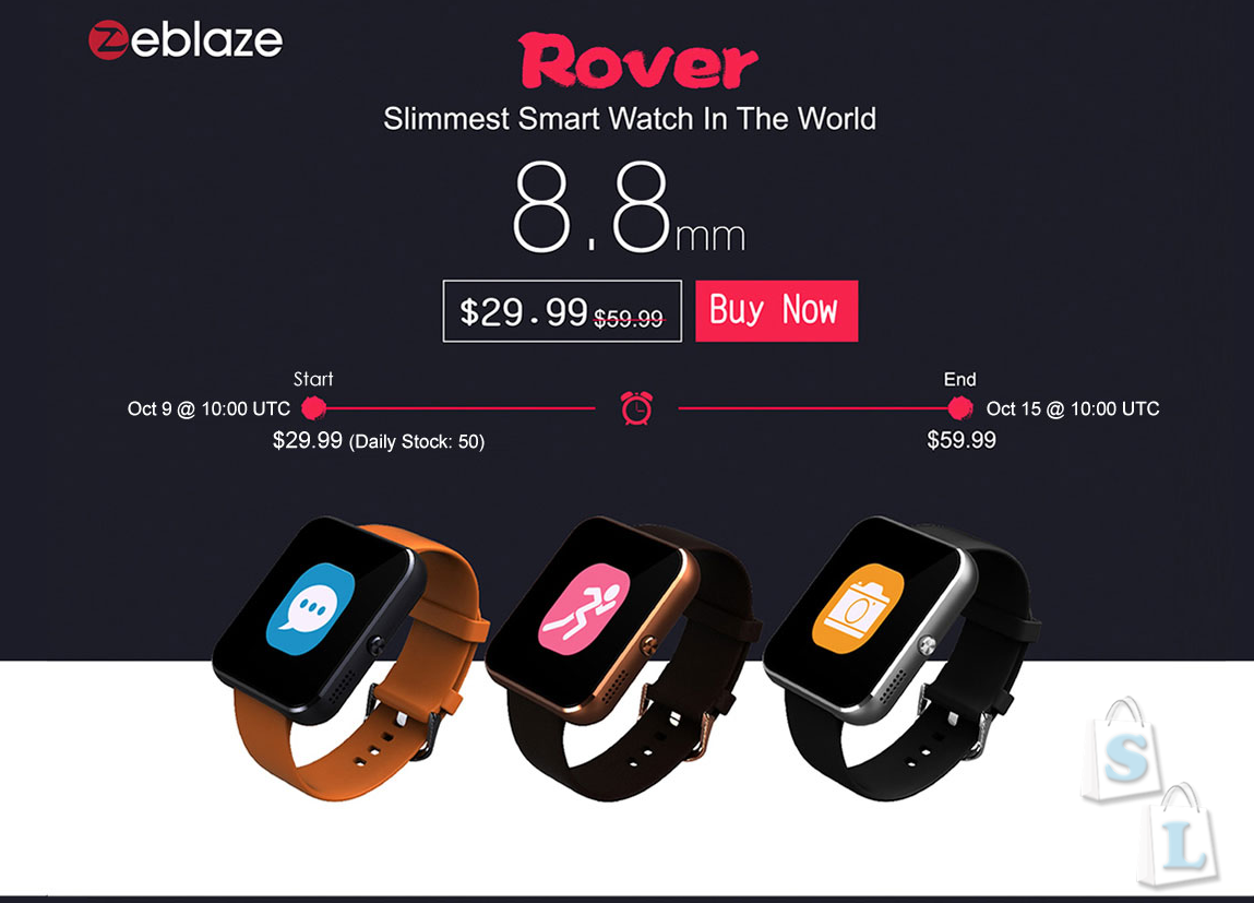 GearBest: Акция Zeblaze Rover полная копия Apple Watch за ,99 от gearbest