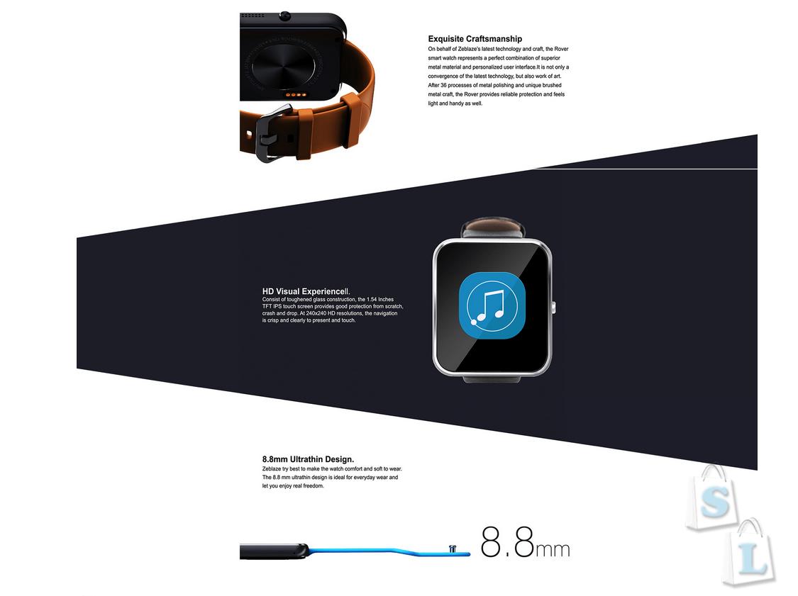 GearBest: Акция Zeblaze Rover полная копия Apple Watch за ,99 от gearbest