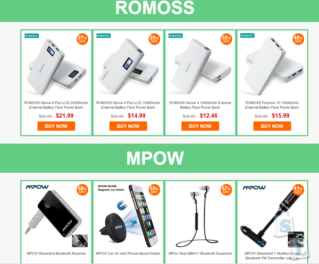 GearBest: Купон акция Gearbest - 20% на мобильные аксессуары