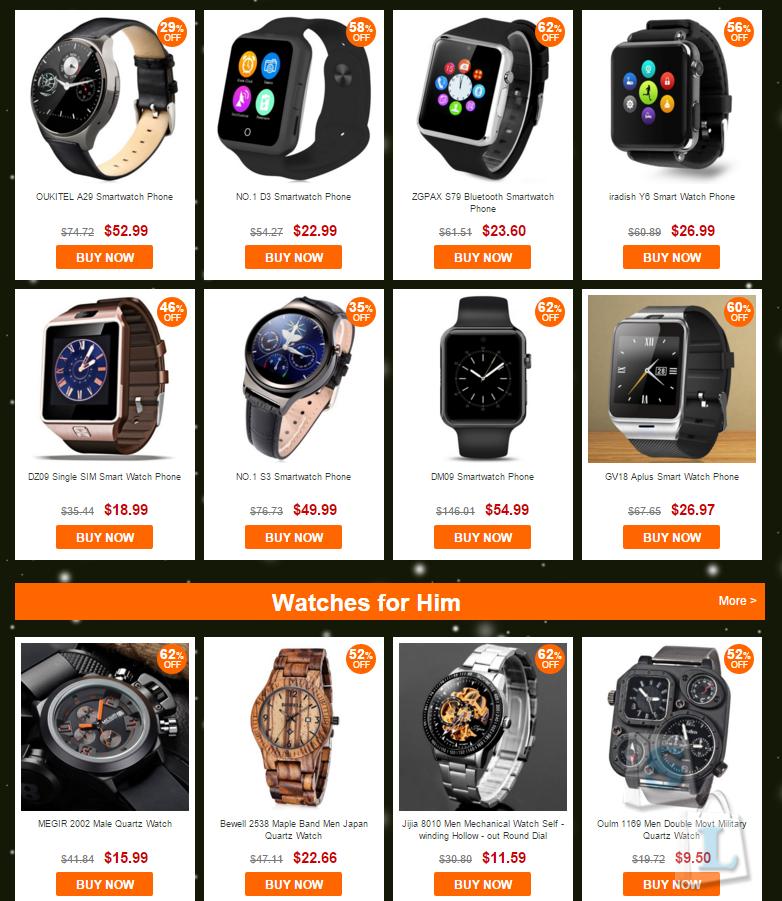 GearBest: Распродажа часов и браслетов от Gearbest
