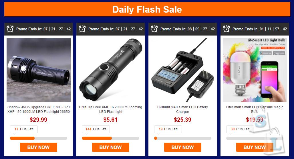 GearBest: Зажги в Новогодние праздники вместе с Gearbest - Flash распродажа