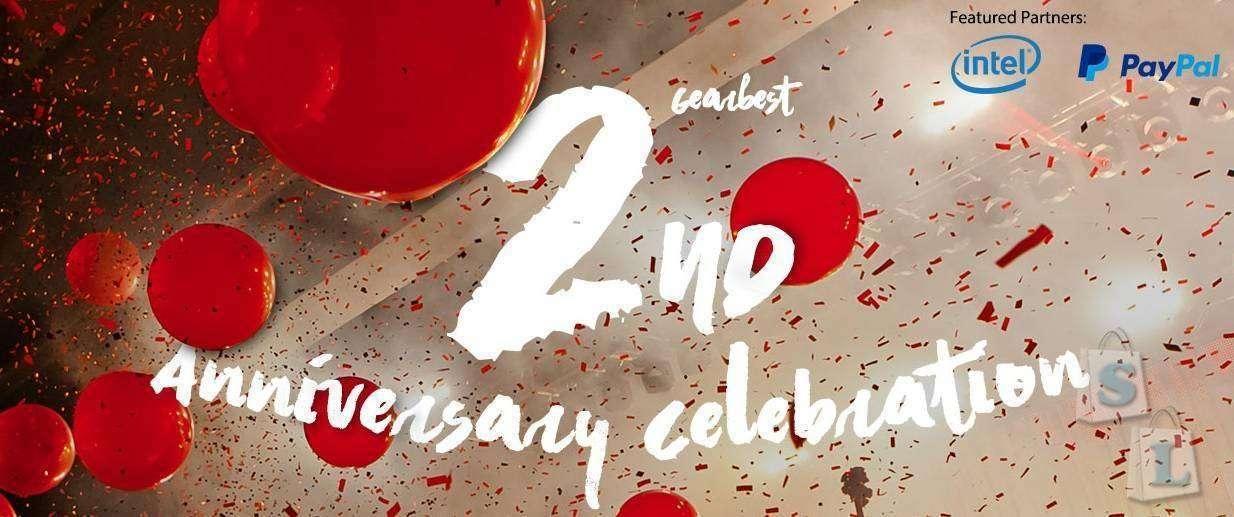 GearBest 2 года: приглашаем вас присоединиться  к нашей  вечеринке!