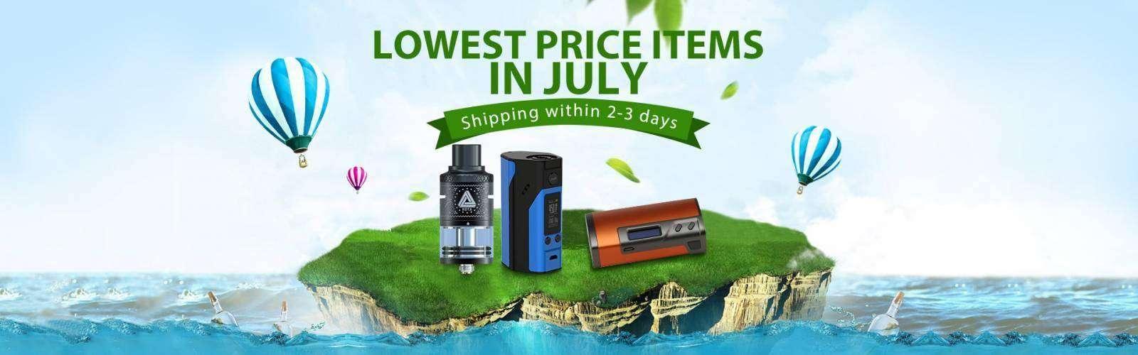 GearBest: Самая низкая цена в ИЮЛЕ для вайперов - отправка за 2-3 дня