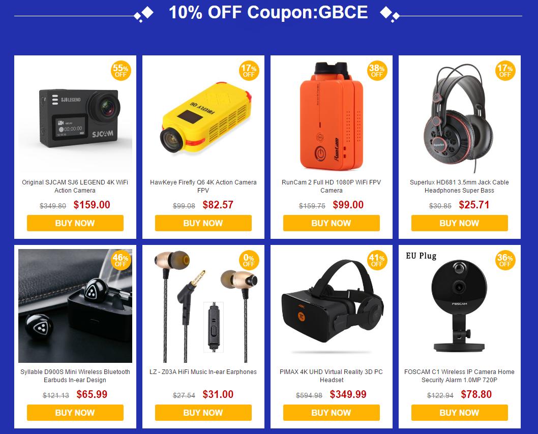GearBest: Купоны до -15% на популярные товaры от Gerbest