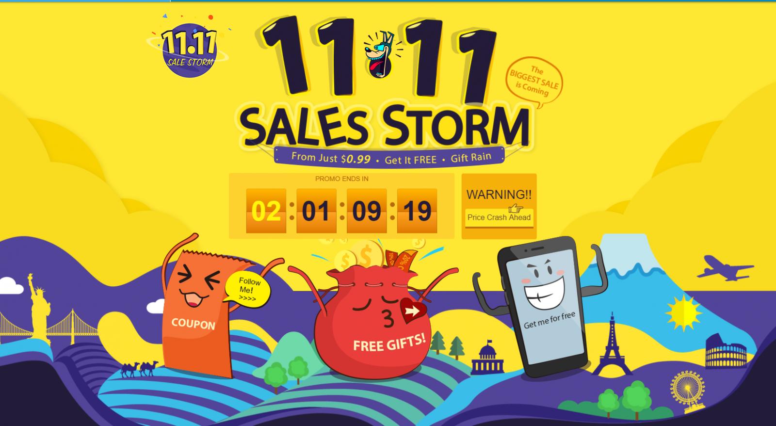 GearBest: Ураганная распродажа 11.11 от Gearbest