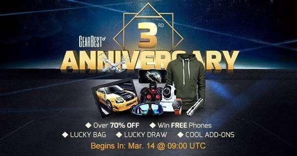 GearBest: Готовимся к дню рождения GEARBEST - 9 марта - купоны и флеш распродажи