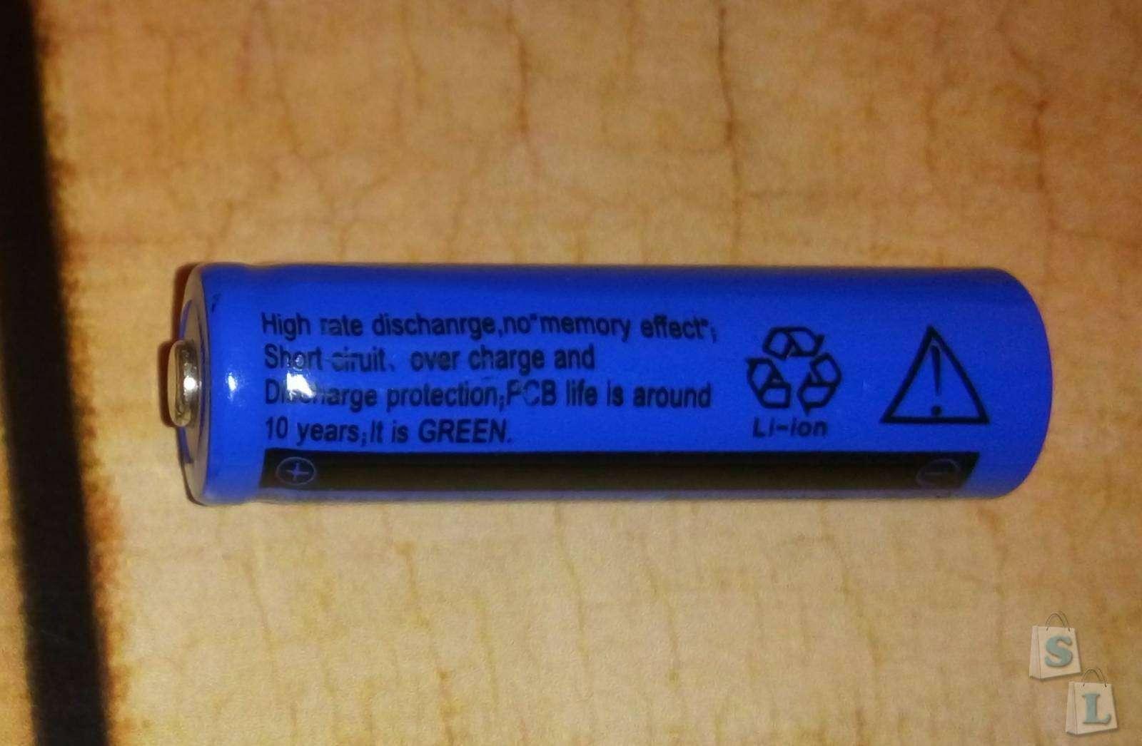 Banggood: Аккумулятор Ultrafire LiOn 14500 3,7 V 1200 mAh - замер реальной емкости, чуда не будет