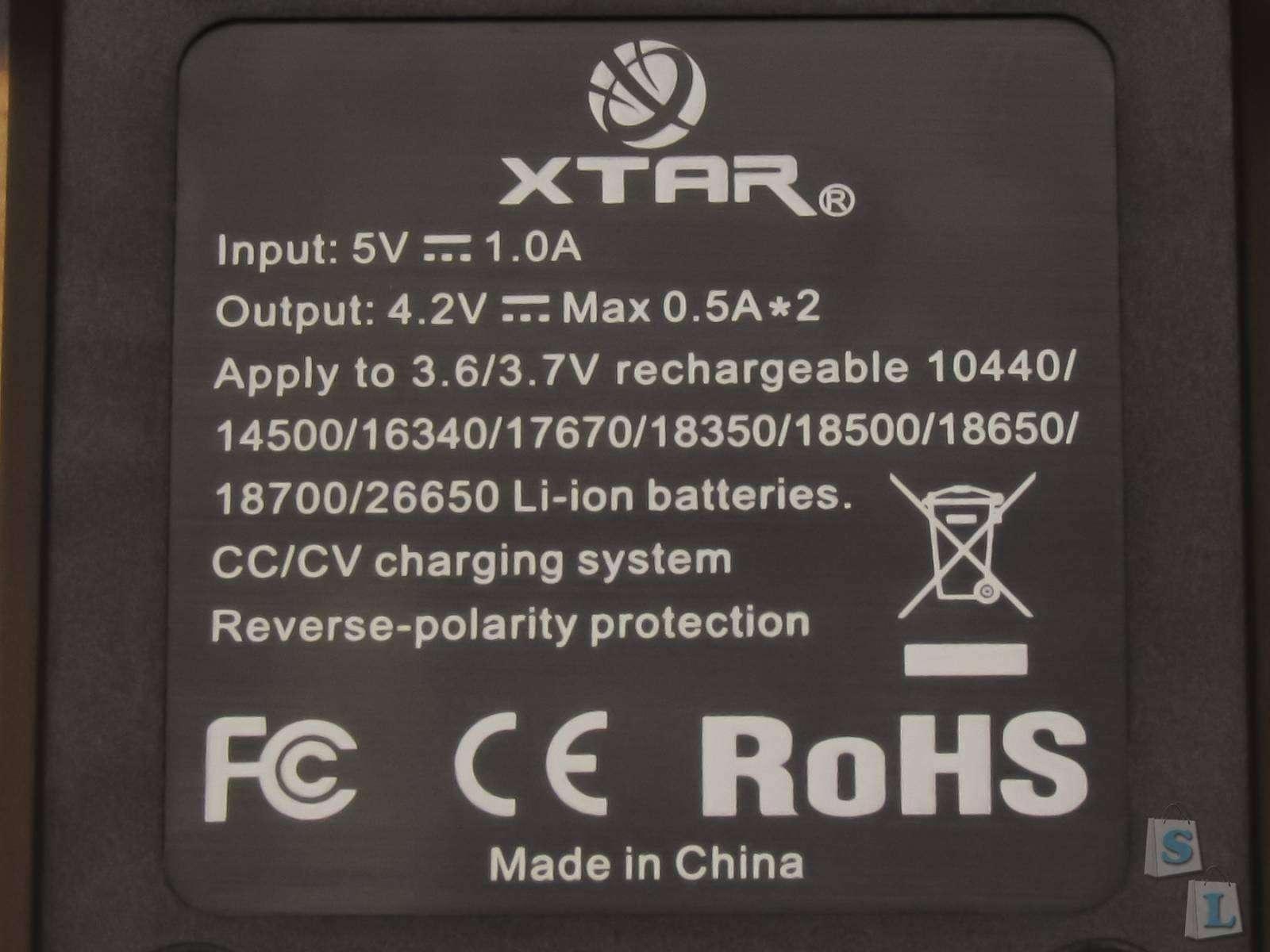 GearBest: Обзор зарядного устройства для Li Ion аккумуляторов XTAR VC2