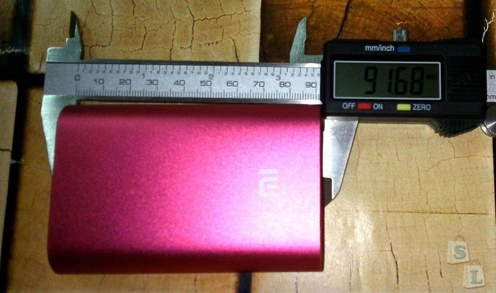 Banggood: Розовый павербанк XIAOMI 5.1V 2.1A 10000mAh - обзор и конечно тест
