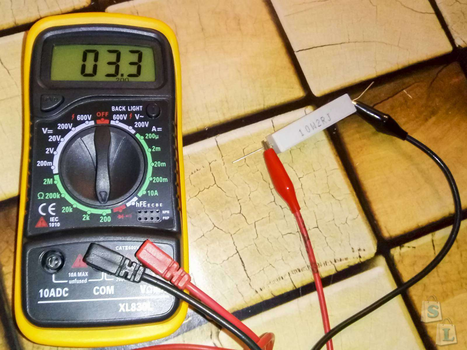 Aliexpress: Набор керамических резисторов - 2 ома, 10 Ватт