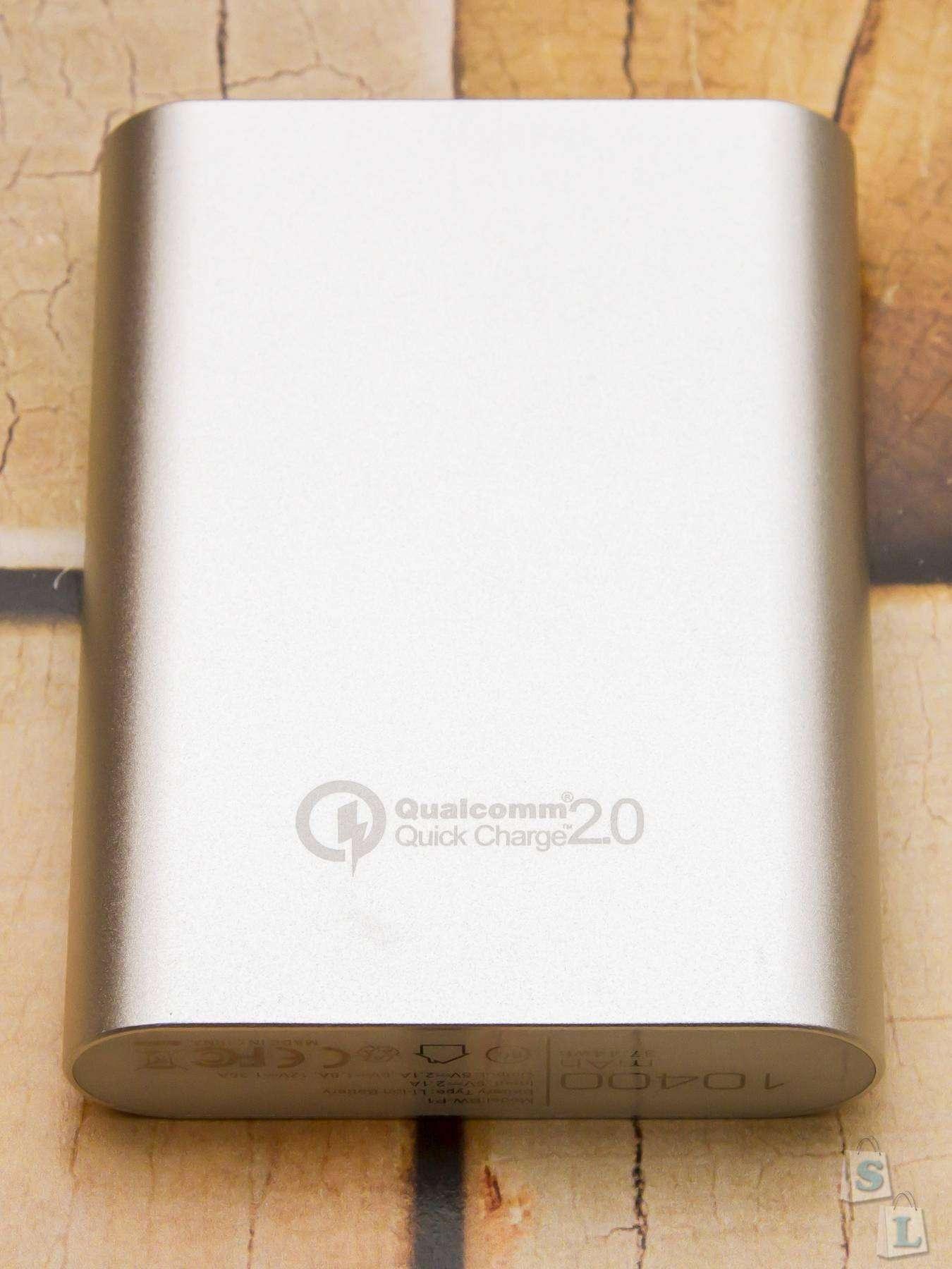 Banggood: Повербанк BlitzWolf 10400mAh с поддержкой технологии Quick Charge 2.0
