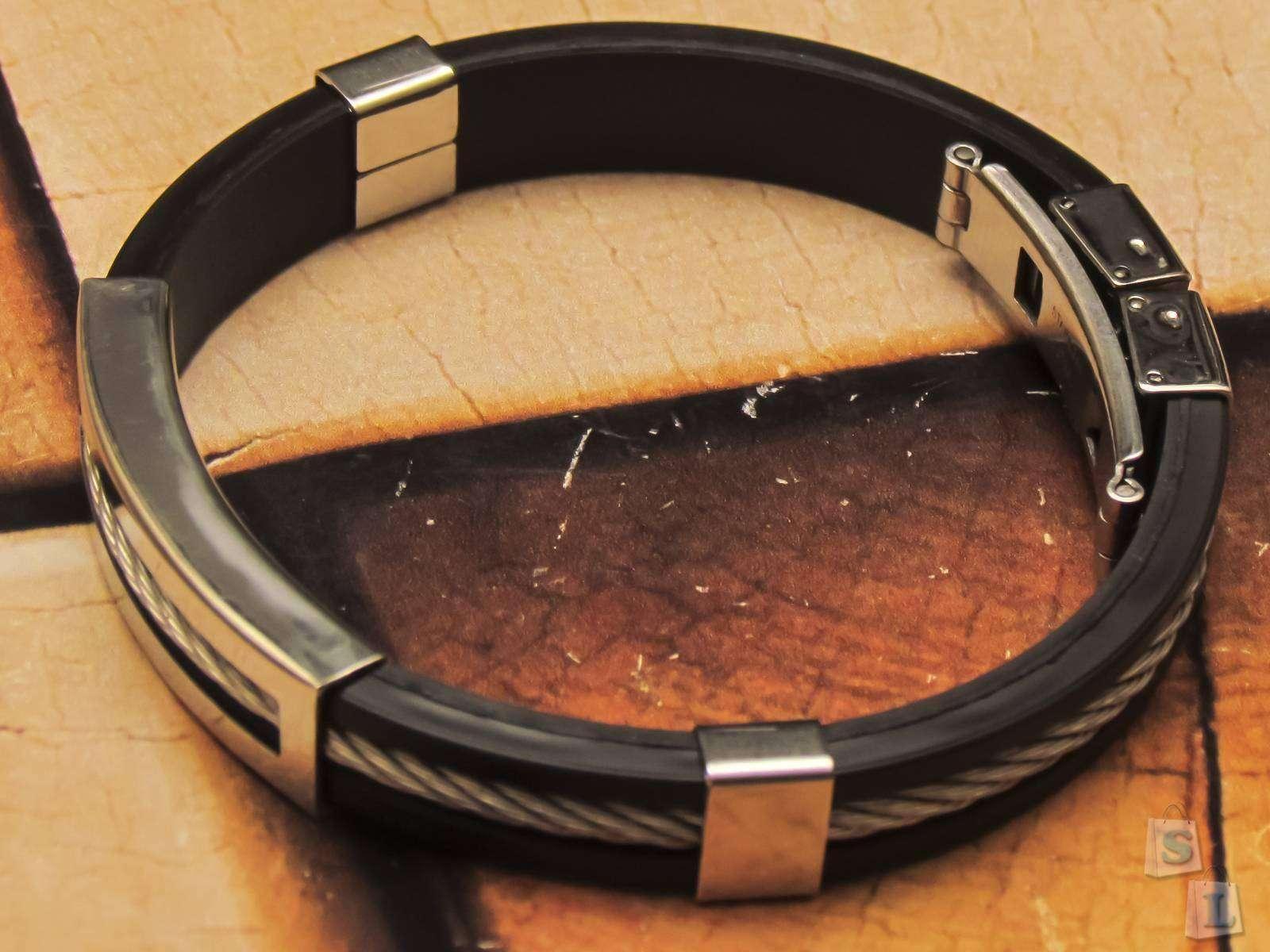 GearBest: Мужской браслет - силикон и сталь