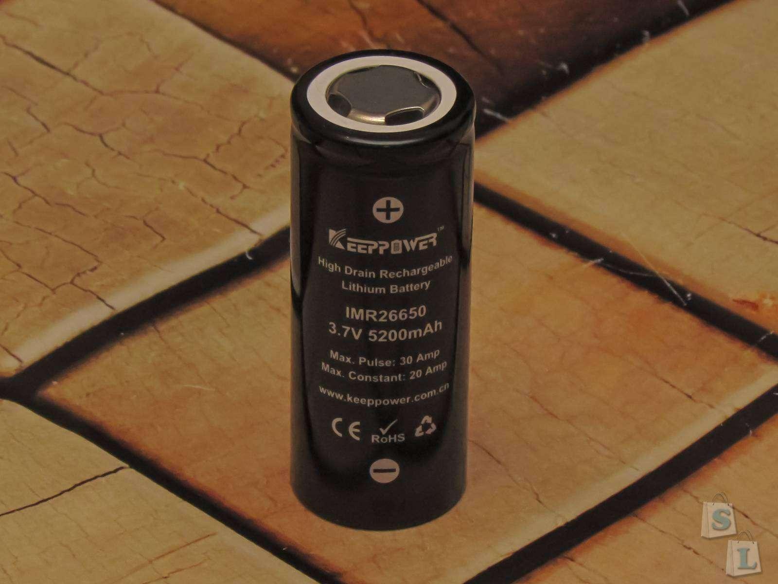 GearBest: Обзор и тестирование Li - ion аккумулятора KeepPower 26650 5200mAh