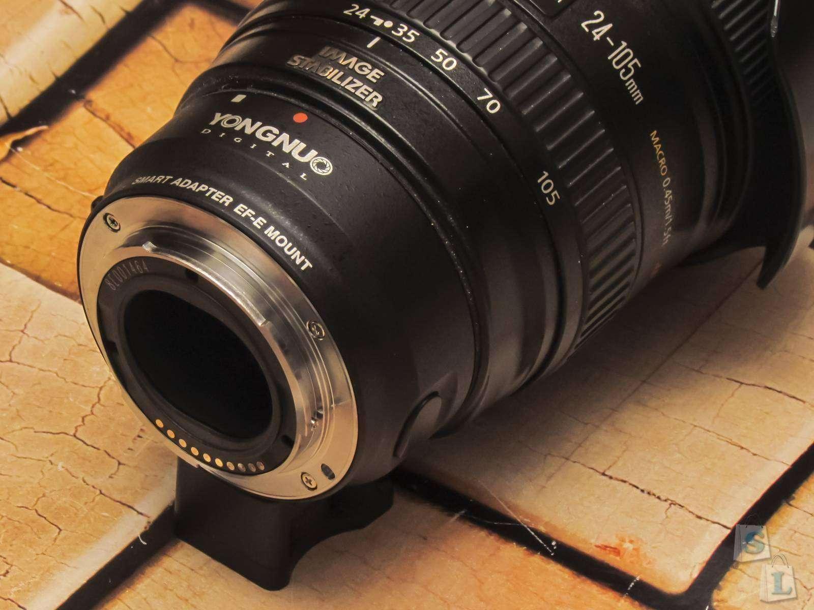 Aliexpress: Автофокусный адаптер YONGNUO Canon EF - Sony E-NEX