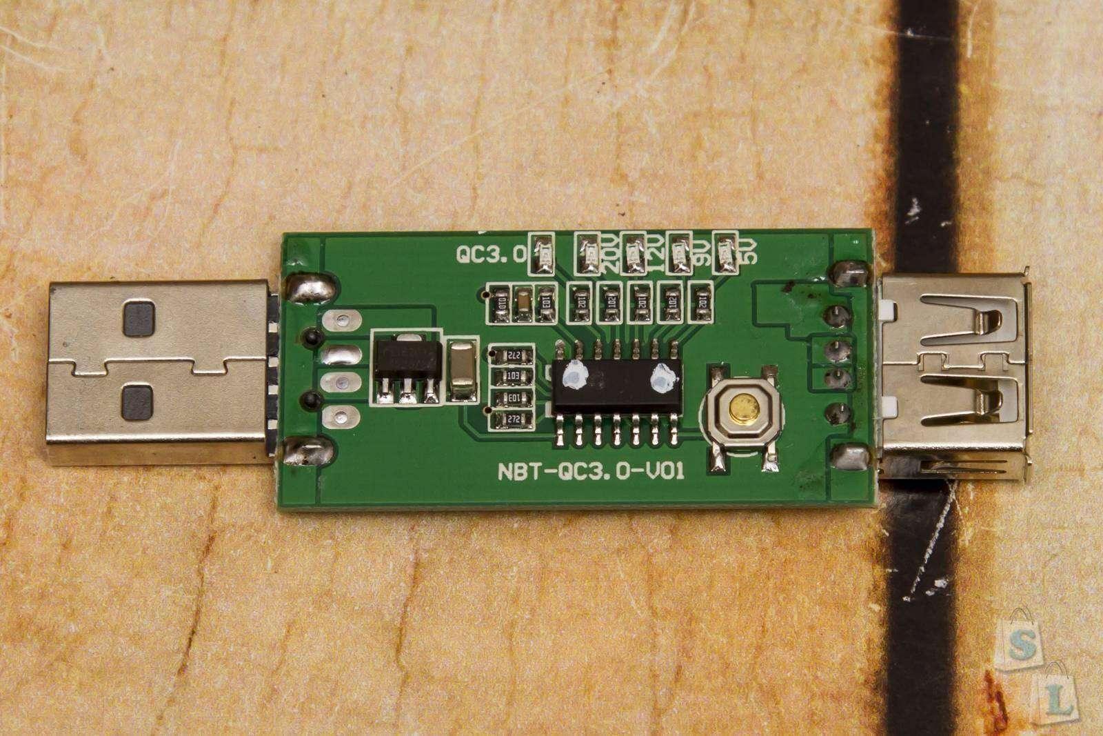 Aliexpress: USB триггер JUWEI для включения режимов Quick Charge 2.0, 3,0 - 5, 9, 12 и 20 Вольт