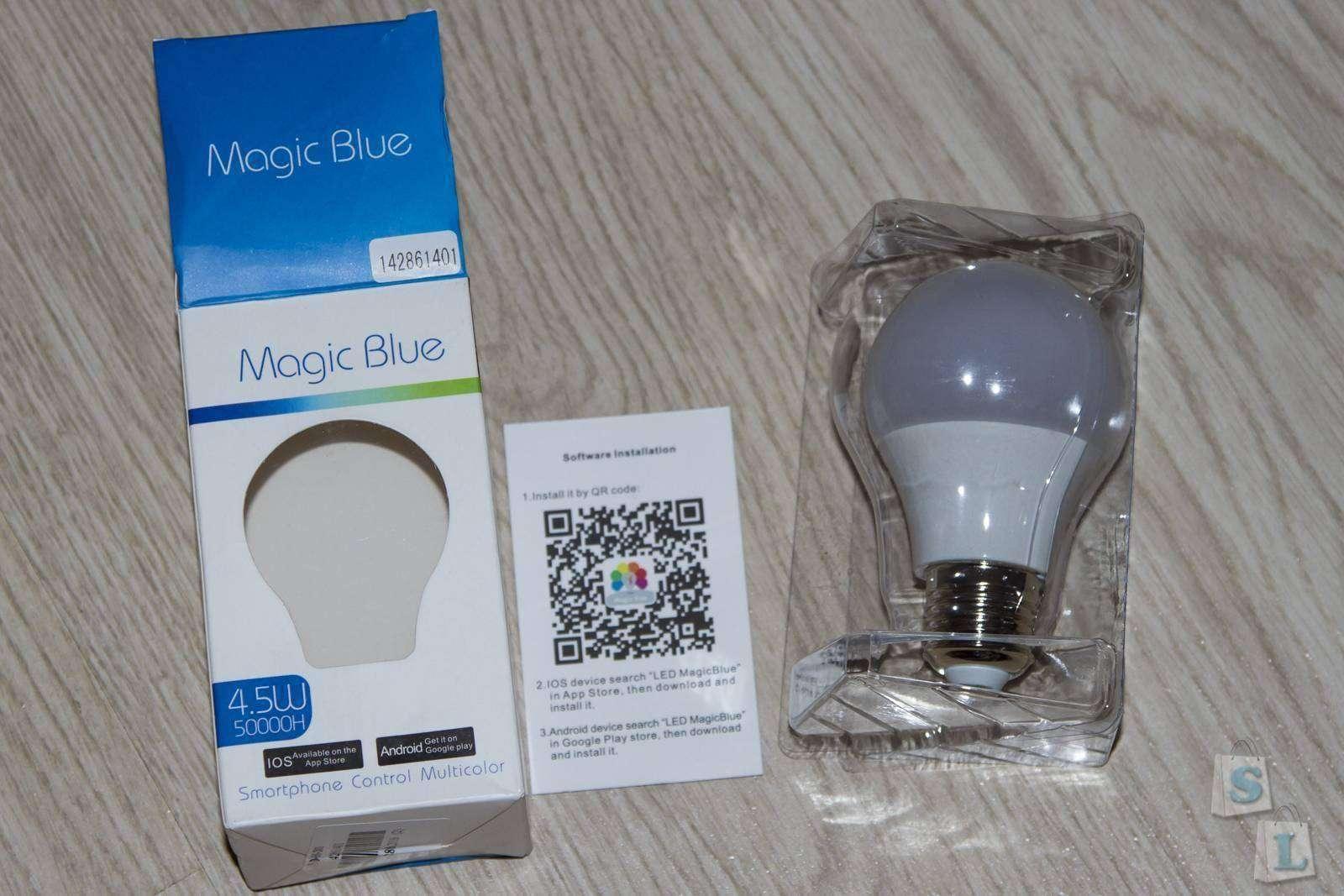 EverBuying: Умная и многоцветная Bluetooth LED лампочка E27 Magic Blue