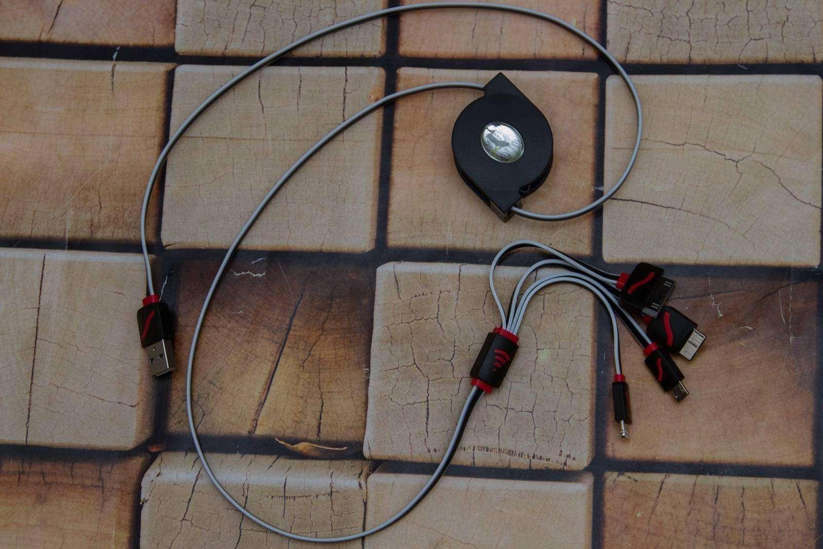 GearBest: Зарядный кабель - гидра, на 4 интерфейса