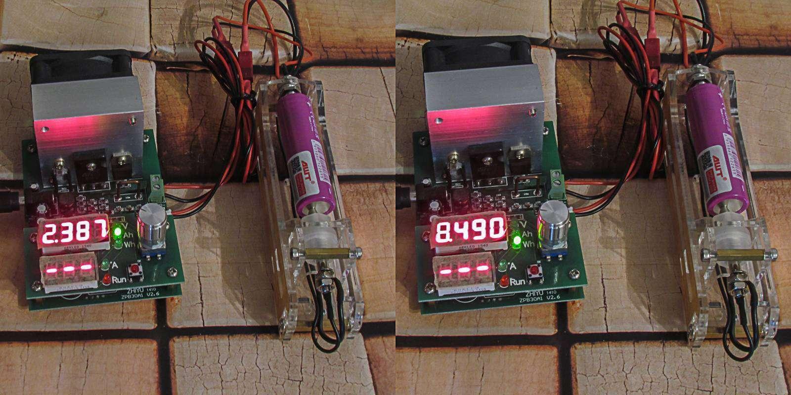 GearBest: Обзор и тестирование высокотоковых аккумуляторов AWT 2600mAh, 40A, фиолетовые