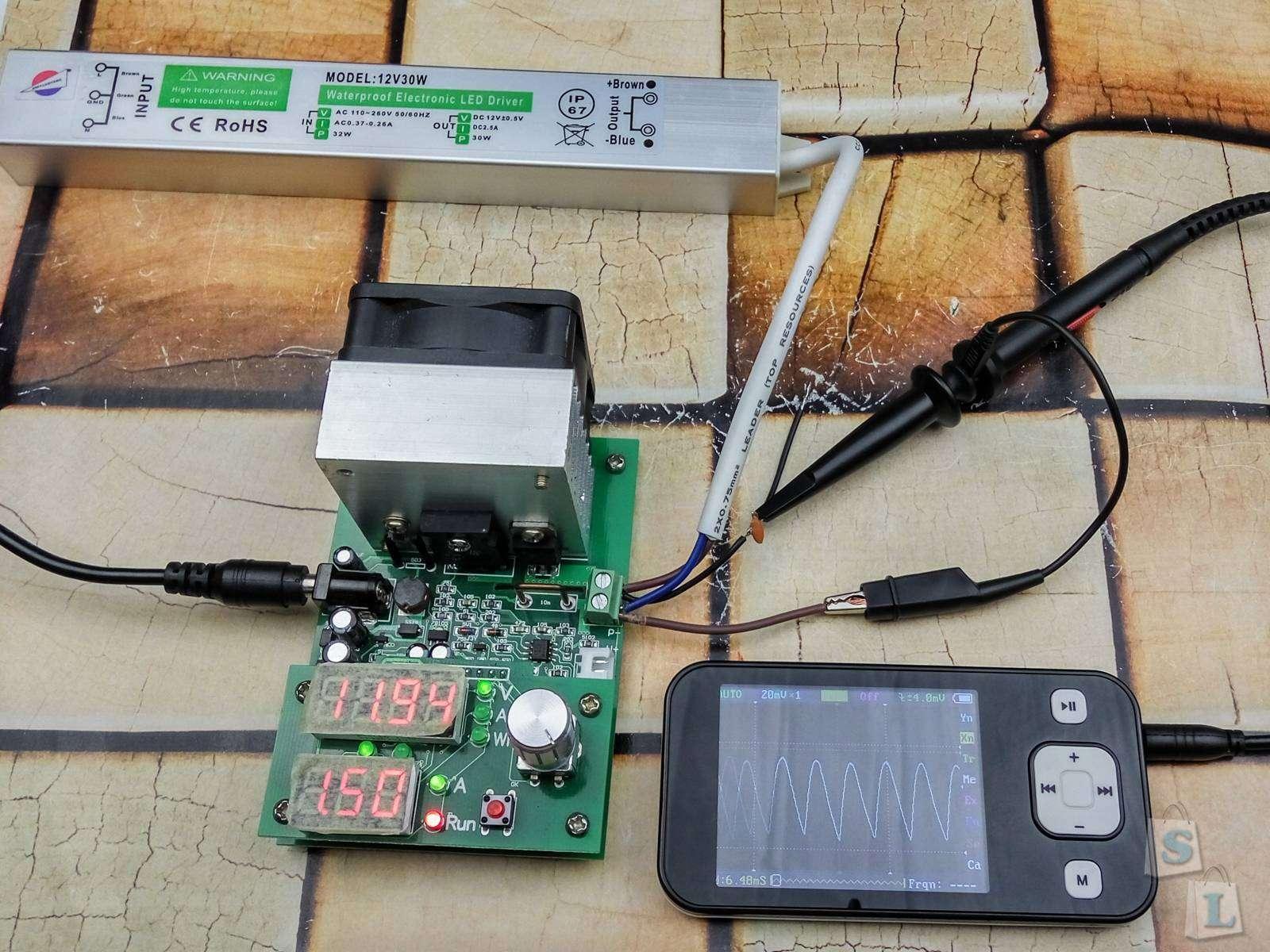 GearBest: Обзор и тестирование блока питания для LED FS-12V-30W 12V / 2.5A IP67