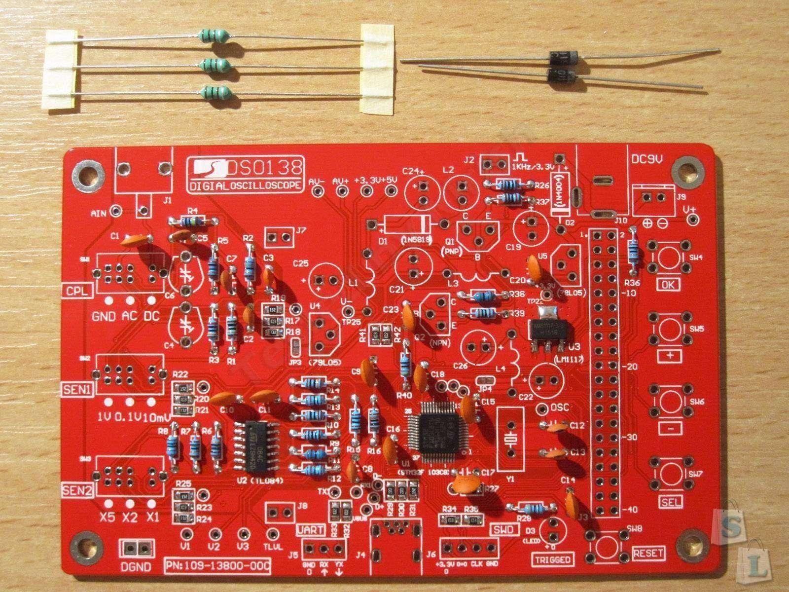 GearBest: Осциллограф своими руками, реально? Да! DSO138, осциллограф-конструктор