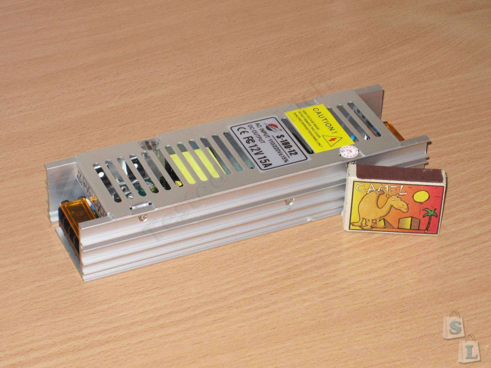 GearBest: S-180-12 180W 12V / 15A блок питания в непривычном формфакторе