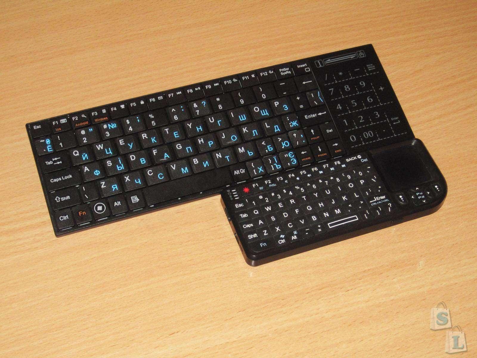 EachBuyer: Компактная Bluetooth клавиатура с интересным тачпадом