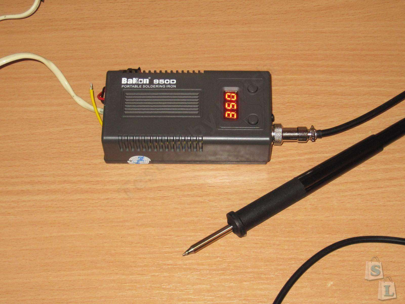 GearBest: Bakon BK950D, небольшая паяльная станция с паяльником T12