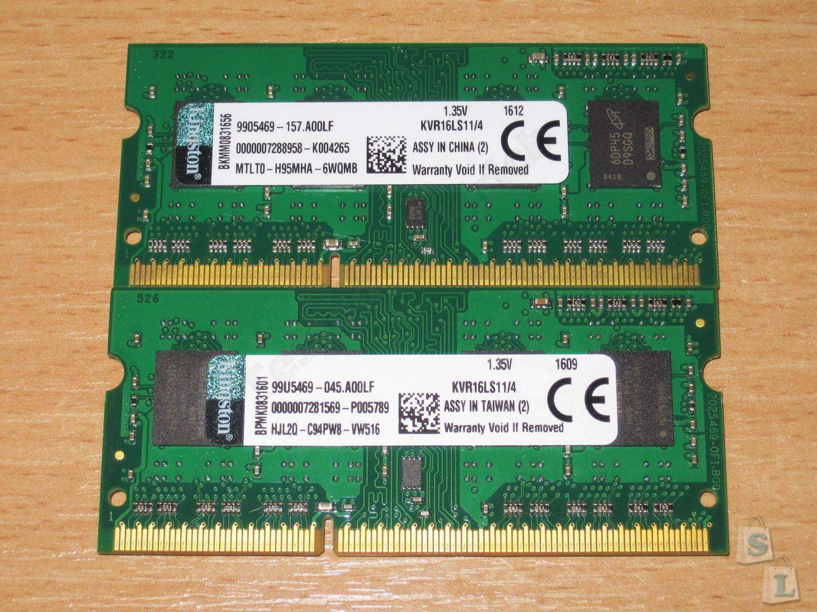 Aliexpress: 4GB SO-DIMM DDR3L от Kingston, сравнительный обзор