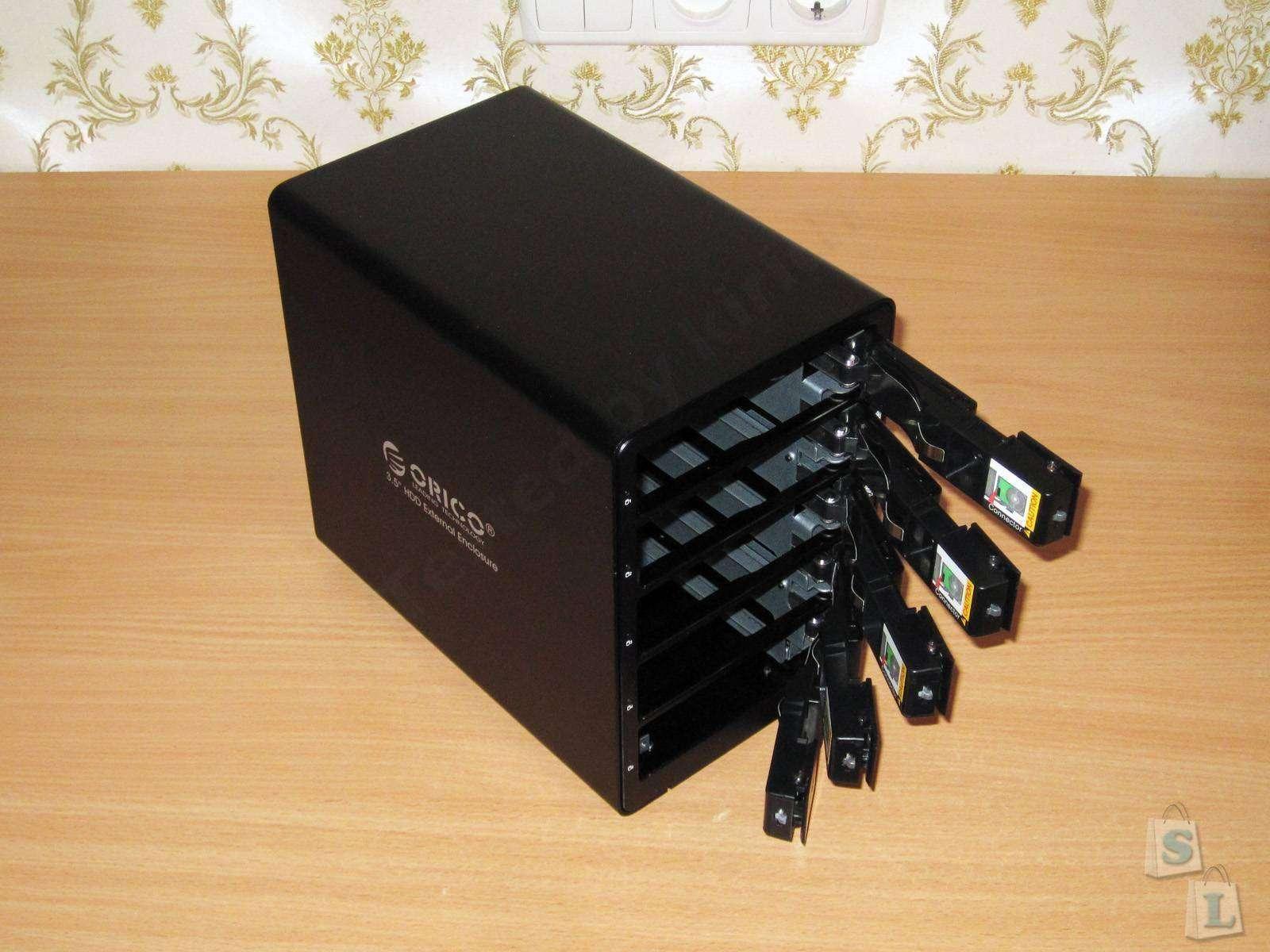 GearBest: ORICO 9558RU3 или пять жестких дисков в одной коробке