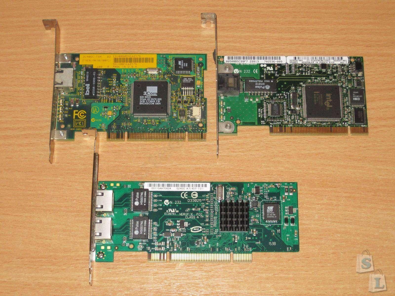 Aliexpress: Серверная сетевая PCI карта с двумя портами Gigabit Ethernet
