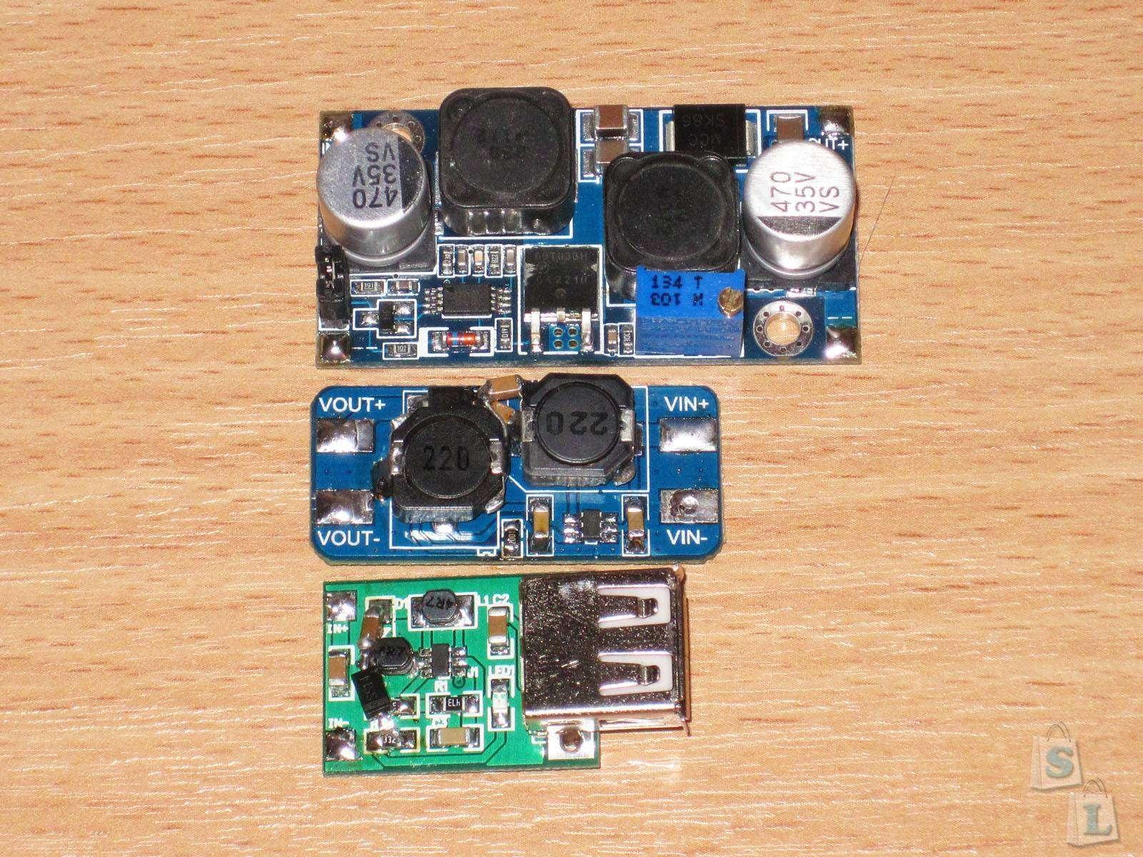 Aliexpress: Пара Step-Up конвертеров и их небольшой апгрейд до SEPIC