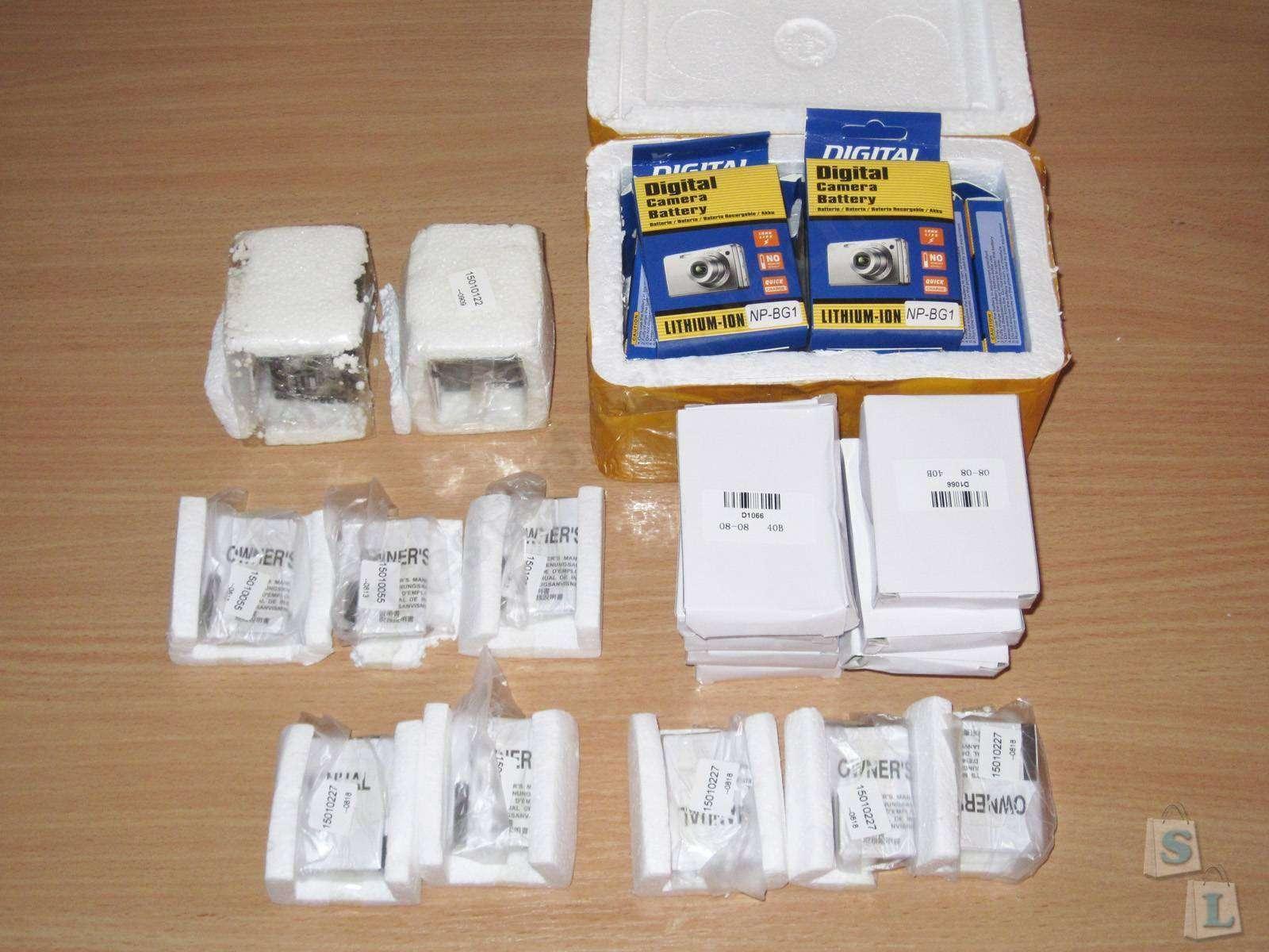 Aliexpress: Кучка разных всяких аккумуляторов для фотоаппаратов и прочих полезных устройств :)