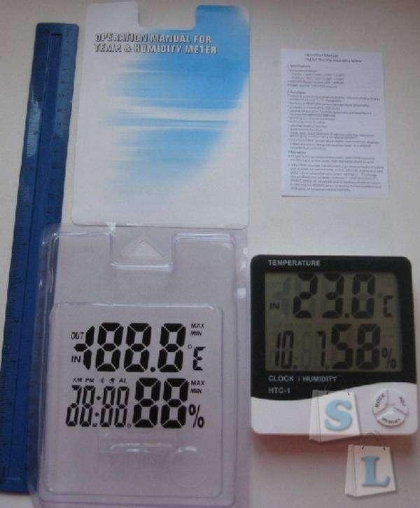 TinyDeal: Часы + термометр + гигрометр