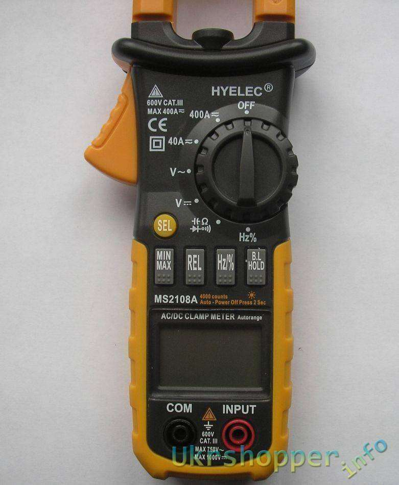 TomTop: Токоизмерительные клещи HYELEC MS2108A. И не только.